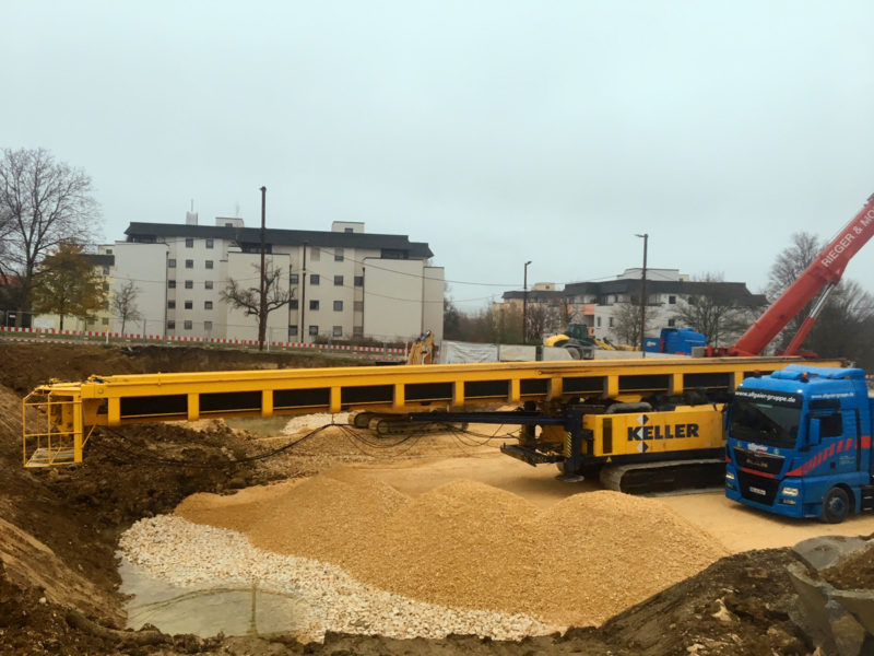 Gründungsarbeiten Hattler-Areal am Kuhberg, November/Dezember 2017
