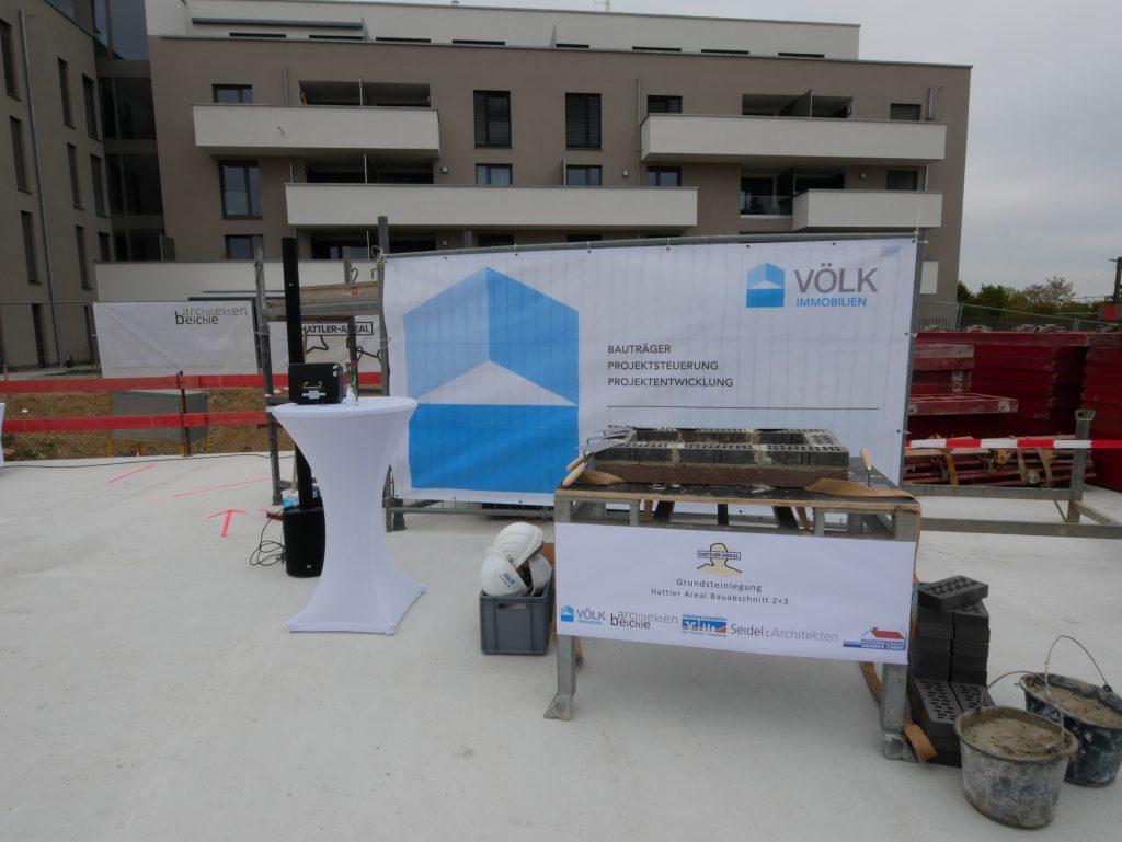 VÖLK Immobilien Grundsteinlegung, Hattler Areal - Bauabschnitt 2+3