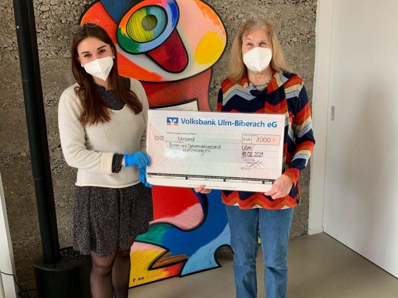 VÖLK Immobilien ULM - Spende für ein Projekt des Blindenverbandes Ulm